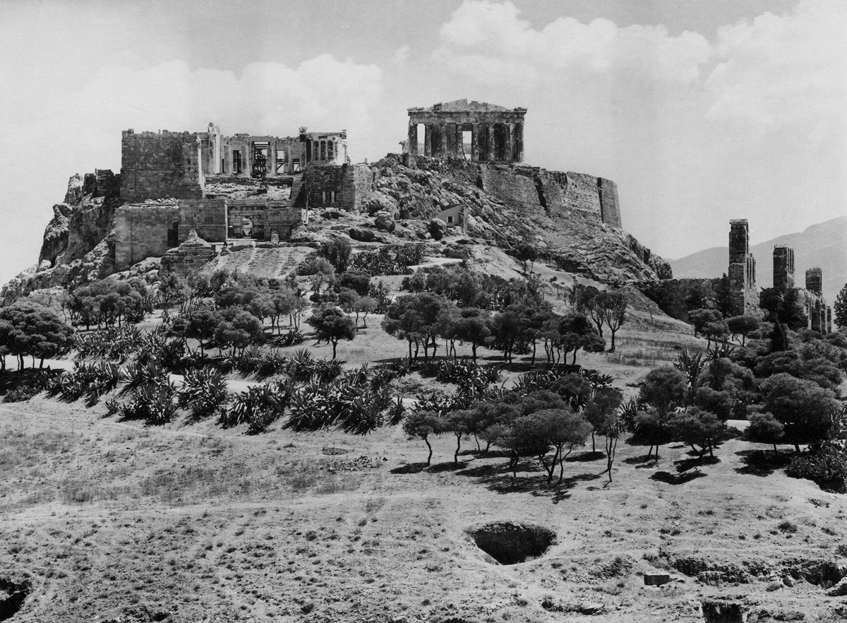Fred Boissonnas, <em>Η Ακρόπολη, πανοραμική θέα από τα δυτικά, 1912</em><br/>Συλλογή Ιωάννη Τρικόγλου, Κεντρική Βιβλιοθήκη ΑΠΘ